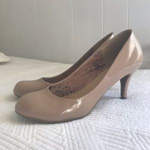 Patent Leather Nude Pump Heels